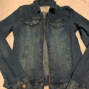 GUESS Jean Jacket with Zipper